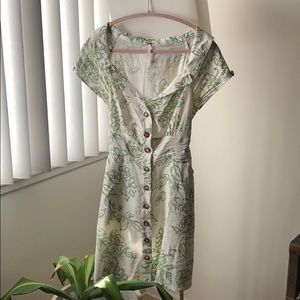 Free People button up floral mini dress 🌺
